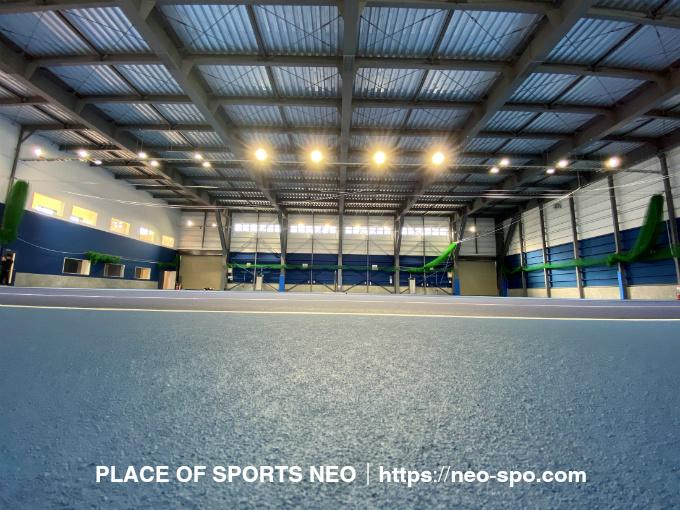 札幌 テニスコート レンタル 屋内2面 デコターフ 11層 PLACE OF SPORTS NEO プレイスオブスポーツネオ