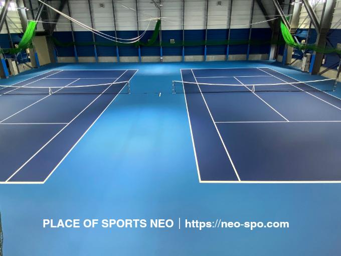 札幌 テニスコート レンタル 屋内2面 デコターフ PLACE OF SPORTS NEO プレイスオブスポーツネオ