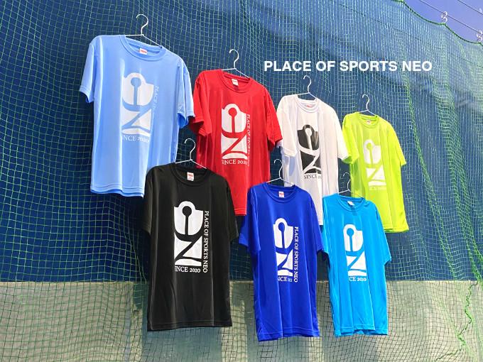 札幌レンタルテニスコート PLACEOFSPORTSNEO オリジナルTシャツ