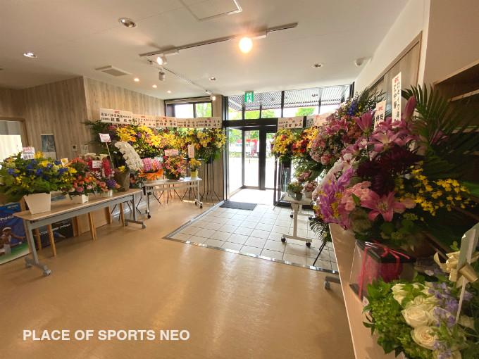 札幌レンタルテニスコート PLACE OF SPORTS NEO 2020年6月7日オープン お祝い 花