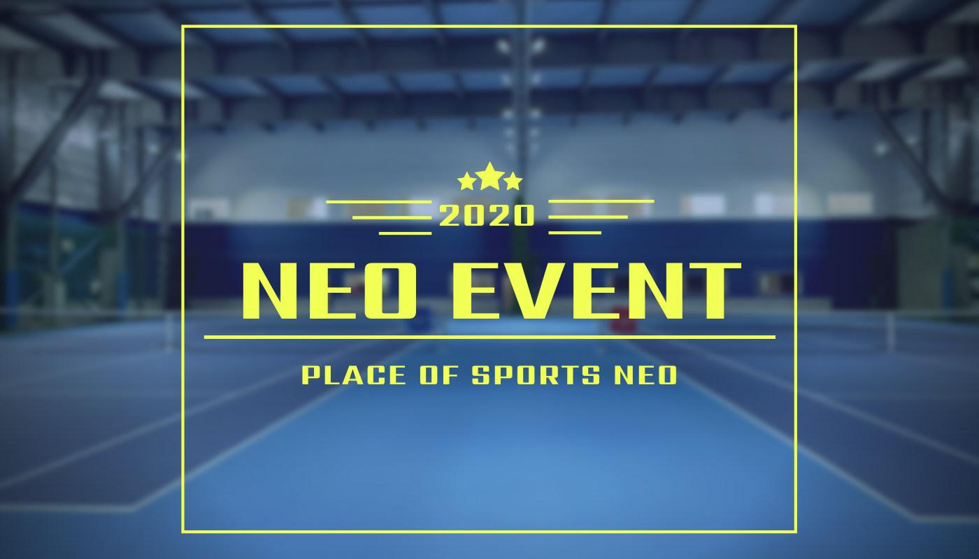 NEOイベント 札幌テニスコート プレイスオブスポーツネオ NEOCUP