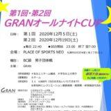GRANオールナイトCUP 札幌テニスイベント プレイスオブスポーツネオ