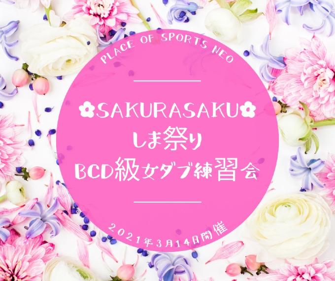 札幌 テニスコート プレイスオブスポーツネオ 春しま祭り BCD級女子ダブルス練習会 しまtennisオフィス