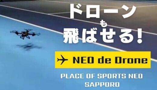 【ドローン】NEO de Drone|札幌レンタルテニスコート プレイスオブスポーツネオ