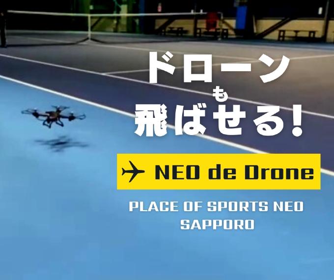 札幌レンタルテニスコート プレイスオブスポーツネオ ドローン